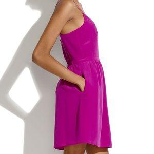 Madewell Silk Cami Fuchsia Pink Dress Size 10